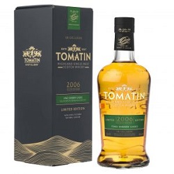 TOMATIN FINO SHERRY CASK 2006 limited edition